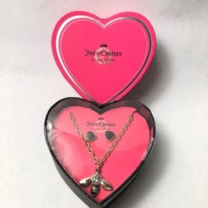 Juicy Couture Bumble Bee Necklace & Earrings